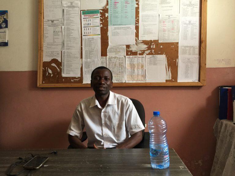 Headmaster Mr. Luka Ngongomi, Midlands school
