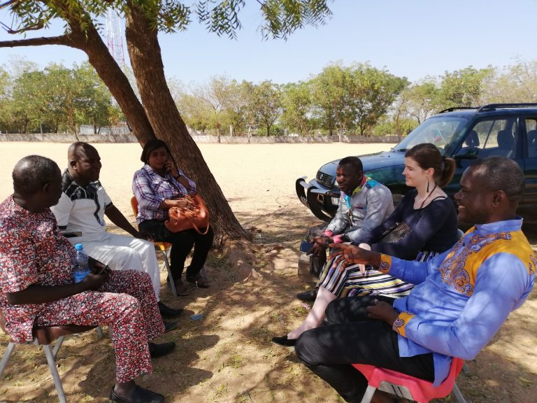 Delegation of the Protestant Church of Cameroon visiting Protestant schools in Garoua